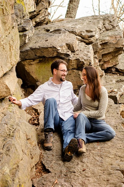 rock climbing portraits and engagement session