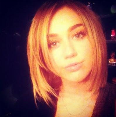 Foto novo cabelo da Miley Cyrus 2012