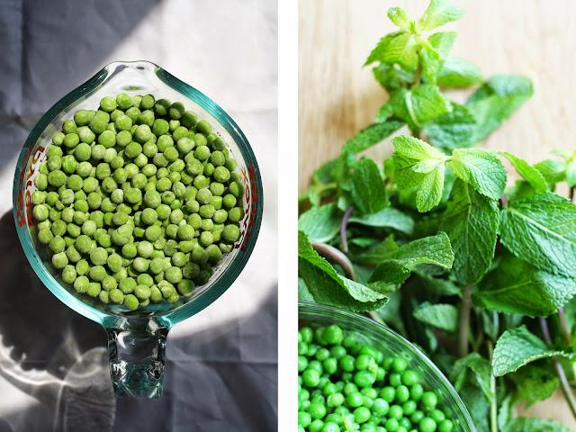 Spring Pea + Mint Dip with Za'atar Pita Chips | Sevengrams