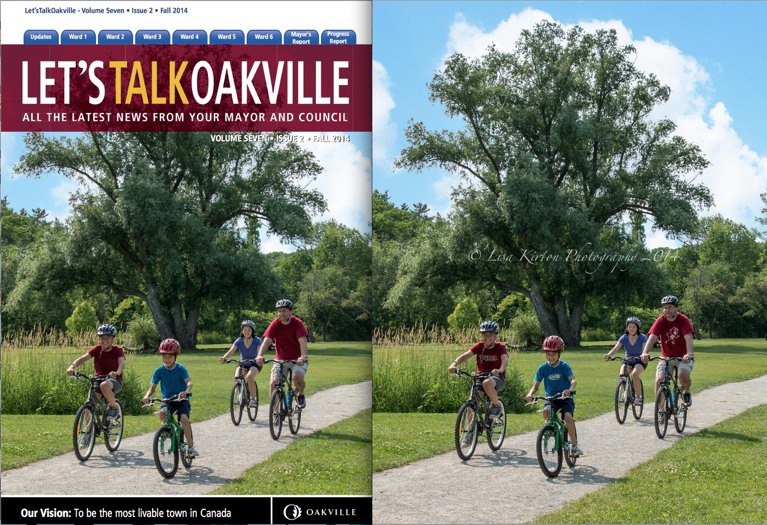 Fall 2014 cover Let's Talk Oakville
