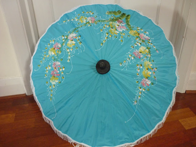 Blue Parasol; PetiteSilverVixen