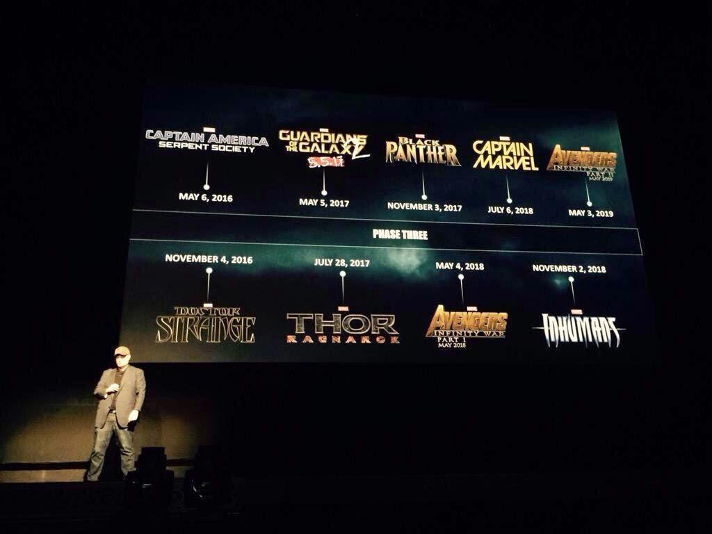Calendario nuevas películas Marvel Studios
