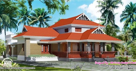 traditional house in 1800 square feet kerala home design and floor plans - Traditional Home Design
