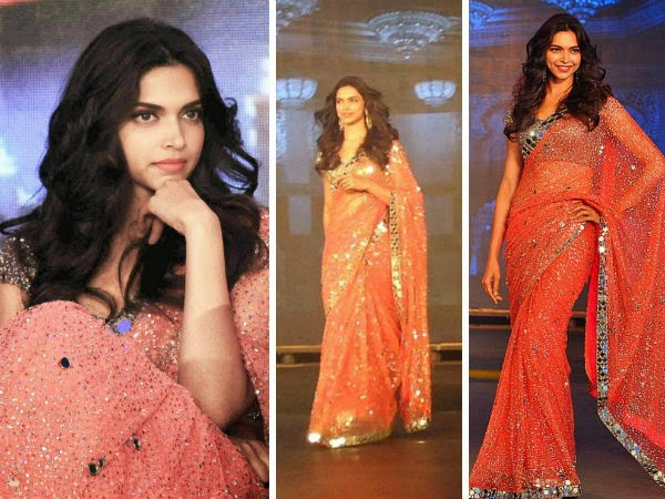 Deepika Padukone in manish malhotra design saree