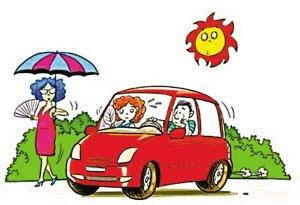 讓汽車內溫度迅速下降的方法