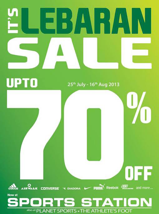 Sport Station Lebaran Sale up to 70% Periode 25 July - 16 Agustus 2013