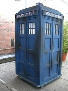 blue phone booth
