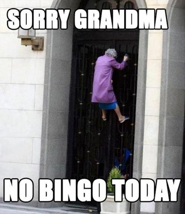 Funny Meme For Today : Sorry grandma no bingo today funny joke pictures
