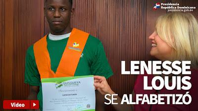 Lenesse Louis se alfabetizó