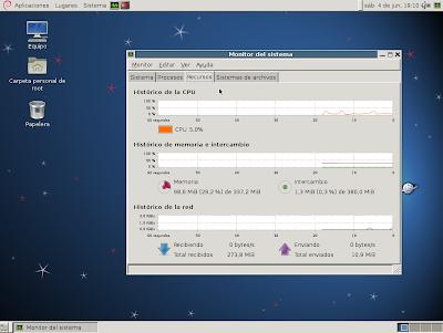 Imagen de Gnome con una instalación mínima en Debian 6
