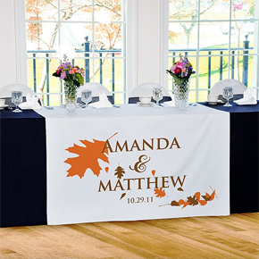 Personalized Fall Wedding Table Runner