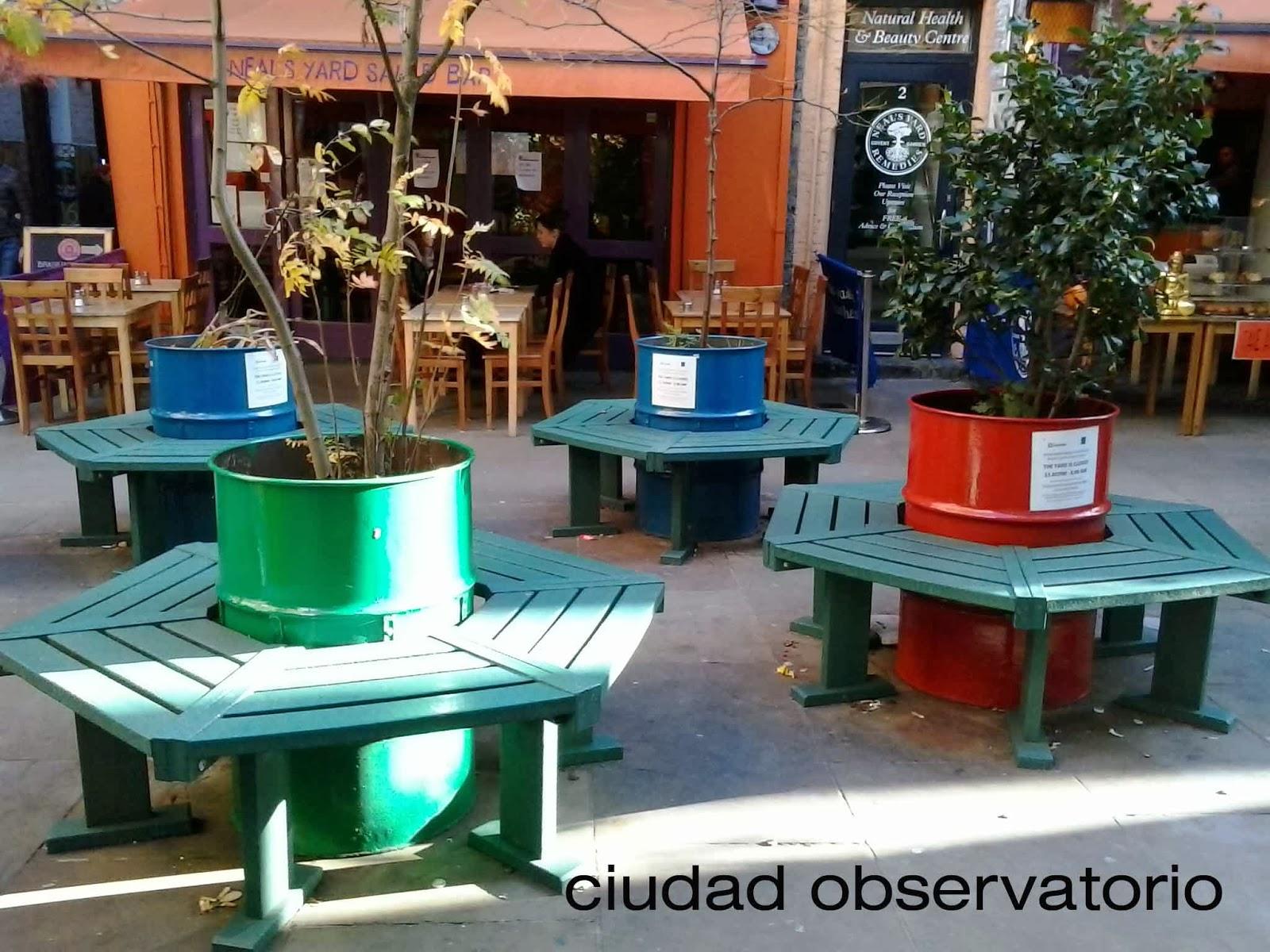 Ciudad observatorio mobiliario en covent garden for Ejemplos de mobiliario urbano
