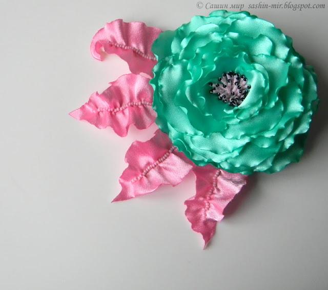 Цветы из ткани.  МК.