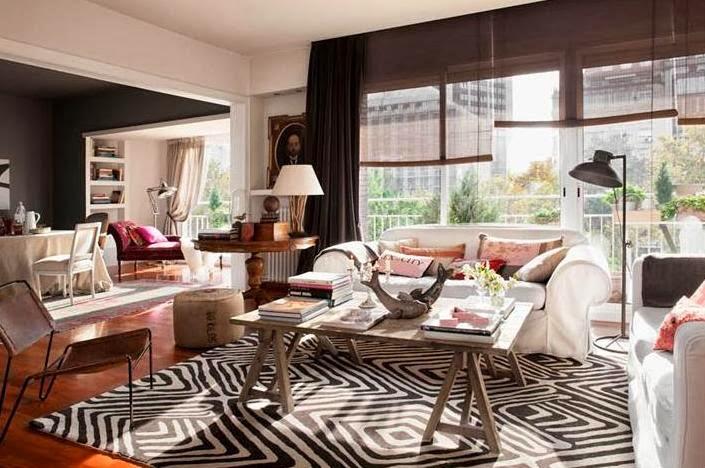 alfombra con estampado de cebra