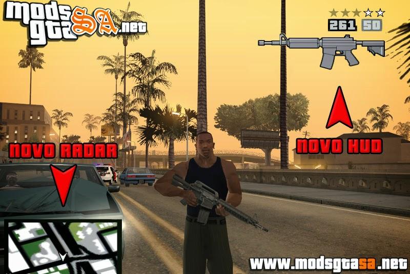 SA - Radar e HUD do GTA V