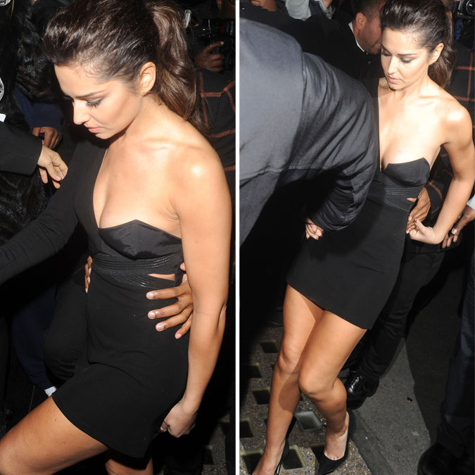 Cheryl Cole saindo de uma festa ps-show - Whisky Mist Club, em Londres - 07 de Outubro de 2012
