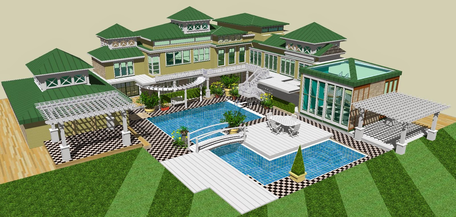 for Pool design sketchup