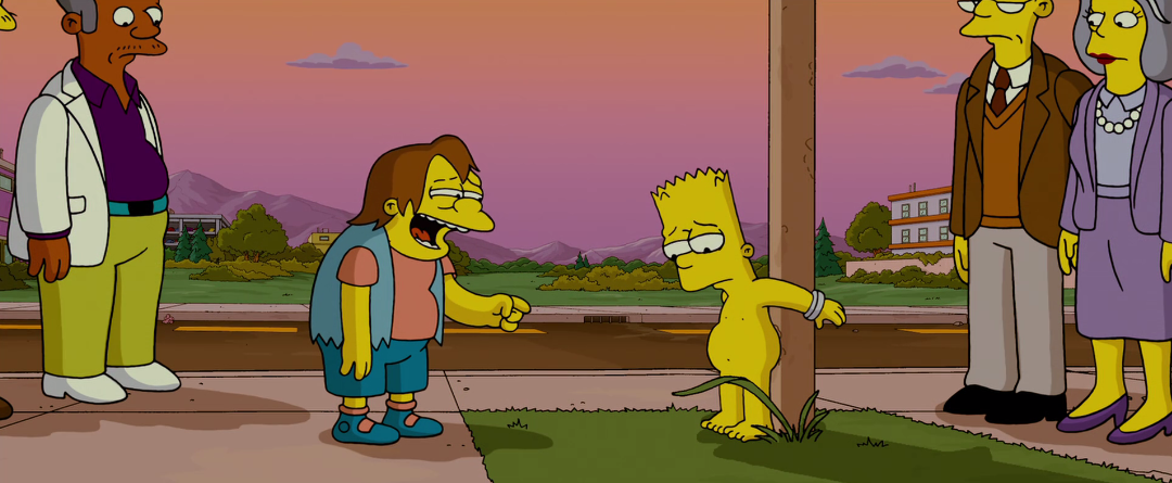 The Simpsons Movie Bart Skateboarding Scene