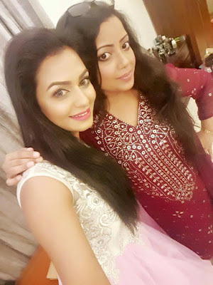 actress nusrat faria with singer kona