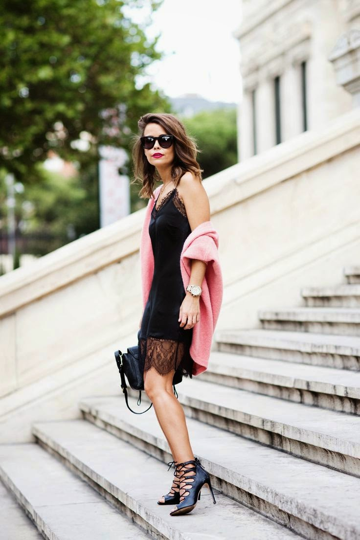 zara slip dress & heels