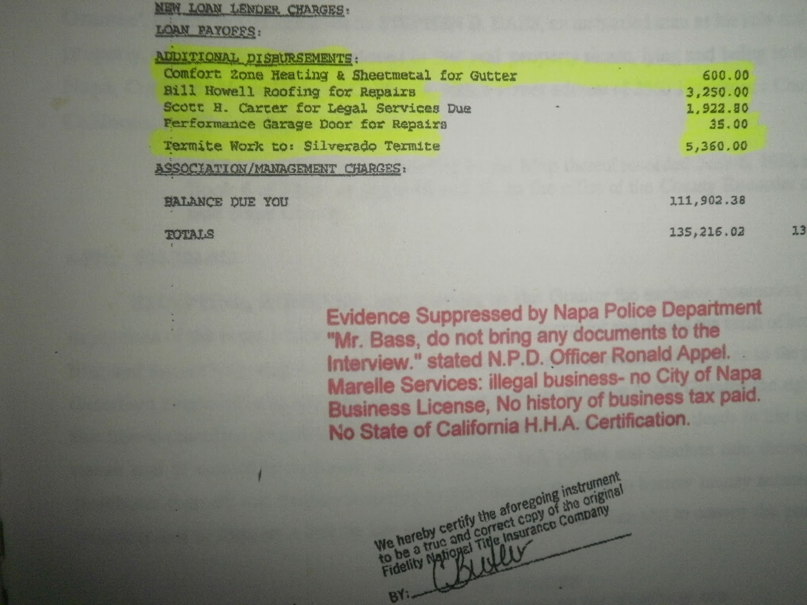 napa realtor catherine fetzer lied to police involving a felony she paid those costs fetzer as shown on your closing statement below three taps for olga image archives elder abuse in the usa
