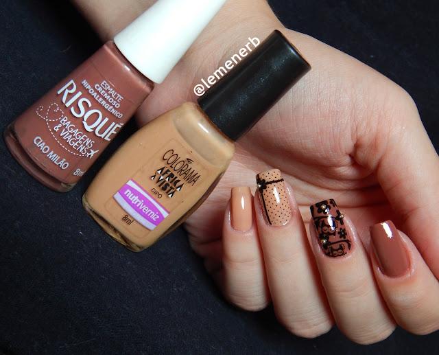 nail art corujinha