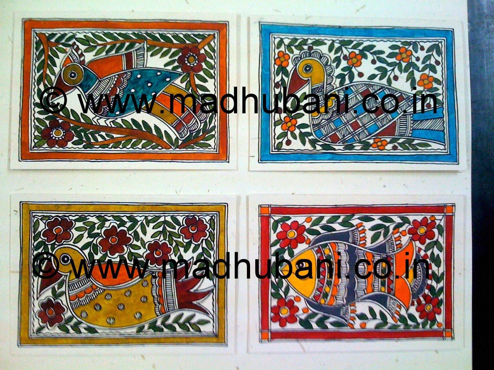 Madhubani mithila paintings by vidushini madhubani greeting cards madhubani greeting cards kristyandbryce Gallery