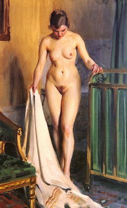 pintura de menina após o banho