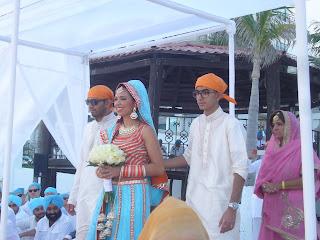 Sikh bride Cancun Mexico Destination Sikh wedding - sikhpriest @gmail.com