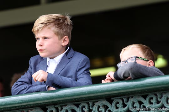 Young punters L-R Lucas Davidson, Rory O'Mahony, at the Livamol Spring Classic Premier Raceday, at Hawke's Bay Racecourse, Hastings. photograph