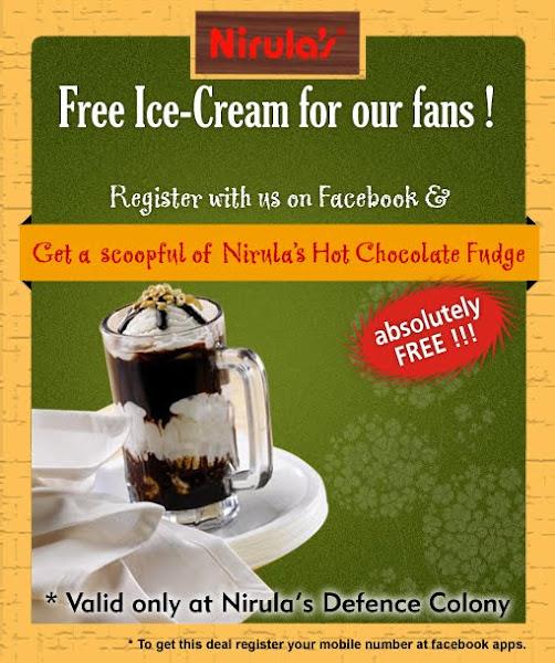 Claim your free Nirula's Hot Chocolate Fudge
