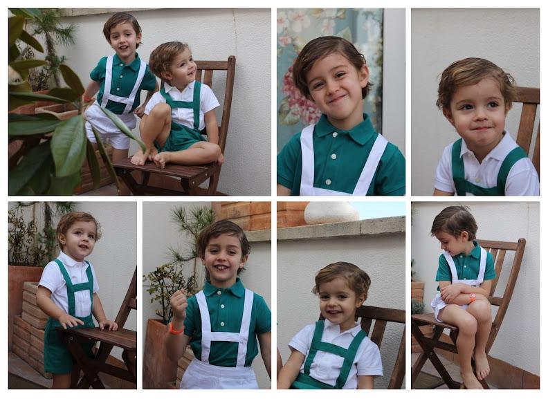 Vestir a dos hermanos iguales