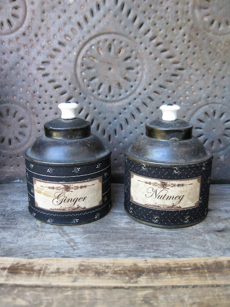 Unusual Spice Tins w Fabric Sleeves