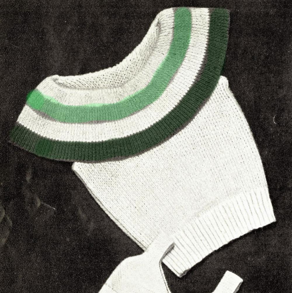 The Vintage Pattern Files: 1930s Knitting - Shawl Collar Bertha Blouse