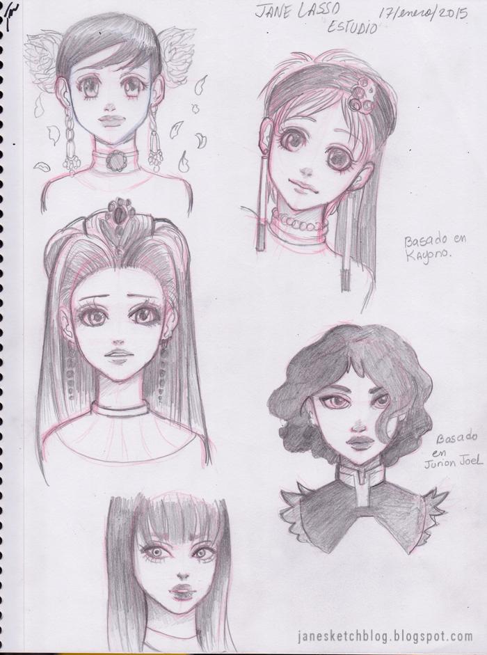 Prácticas y estudios de estilos de dibujos
