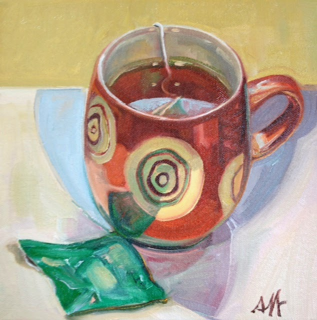 Tea Reflections Oil Painting Jennie Traill Schaeffer