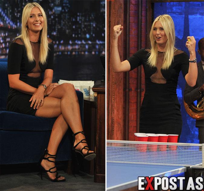 Maria Sharapova no Jimmy Kimmel Live! - 20 de Agosto de 2012