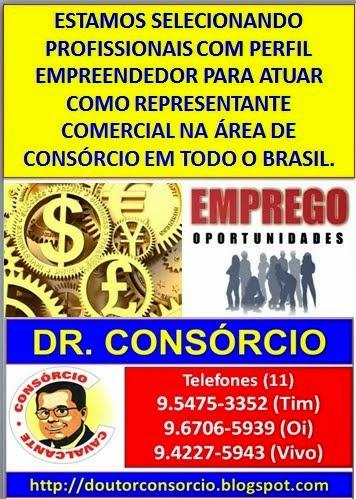 Venha trabalhar como vendedor ou representante de consórcio com o Dr. Consórcio