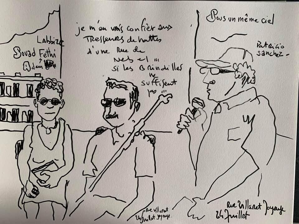 Par Marc Topolino: Souad Labbize, Adam Fethi et Patricio Sánchez. FESTIVAL VOIX VIVES 2019.