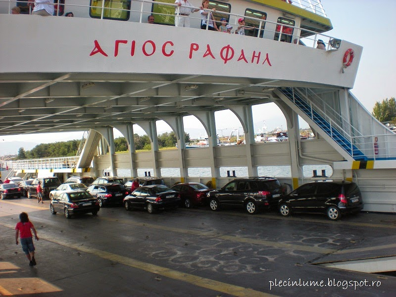 Masini in feribotul spre Keramoti