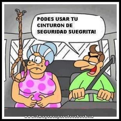 Podes usar tu cinturon de seguridad suegrita!