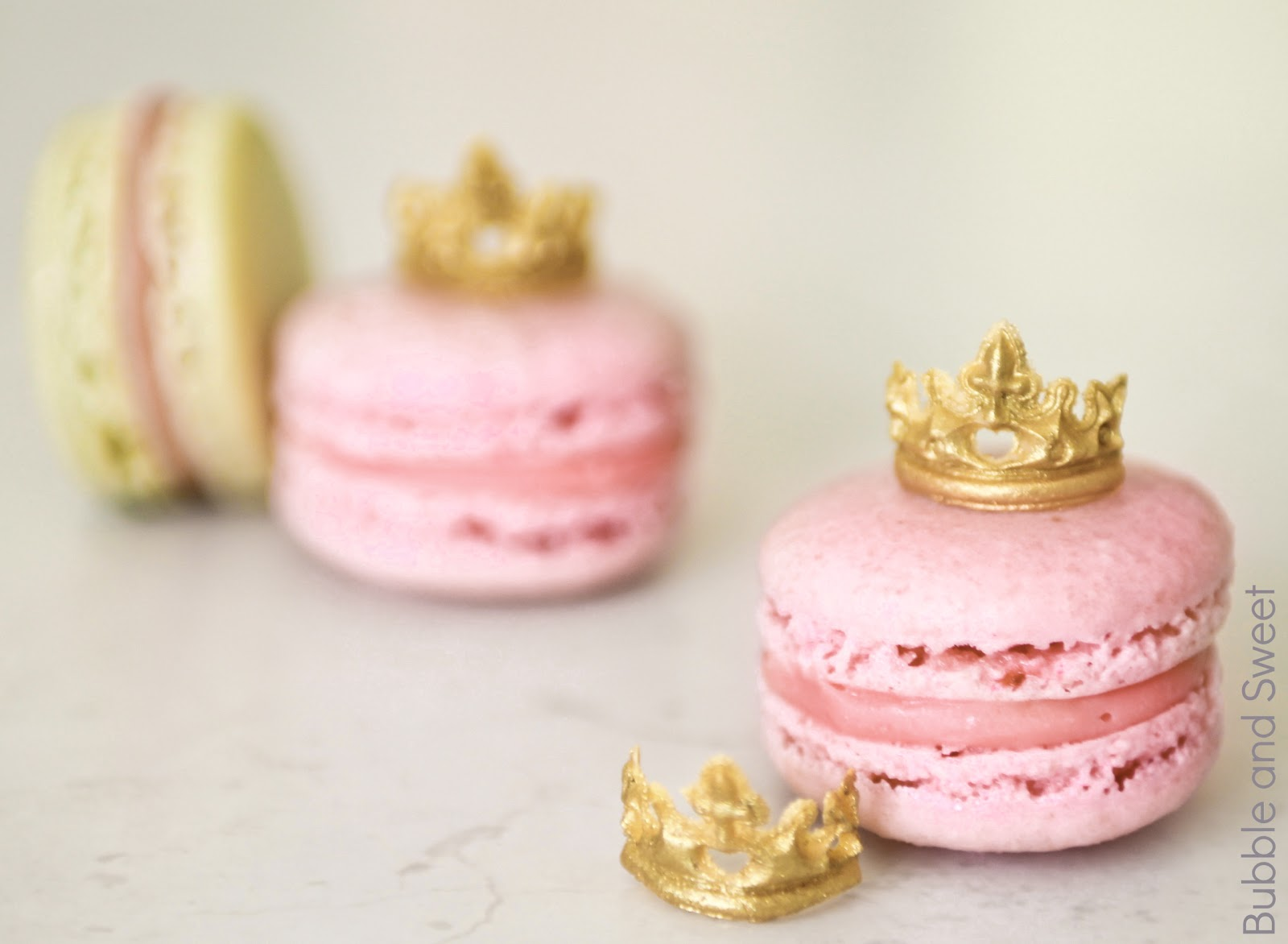 Bubble And Sweet Princess Macarons With Mini Edible Tiaras Or How To Eat A Tiara 2