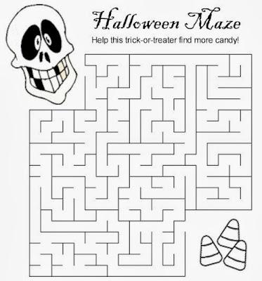 Medium Halloween Maze Printable 4