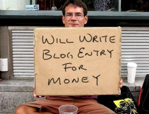 Will Write Blog Entry For Money