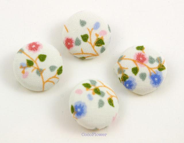 Boutons tissu vintage par cocoflower - www.cocoflower.net