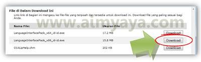 Gambar: Download Office language pack (bahasa Indonesia) dari situs resmi microsoft
