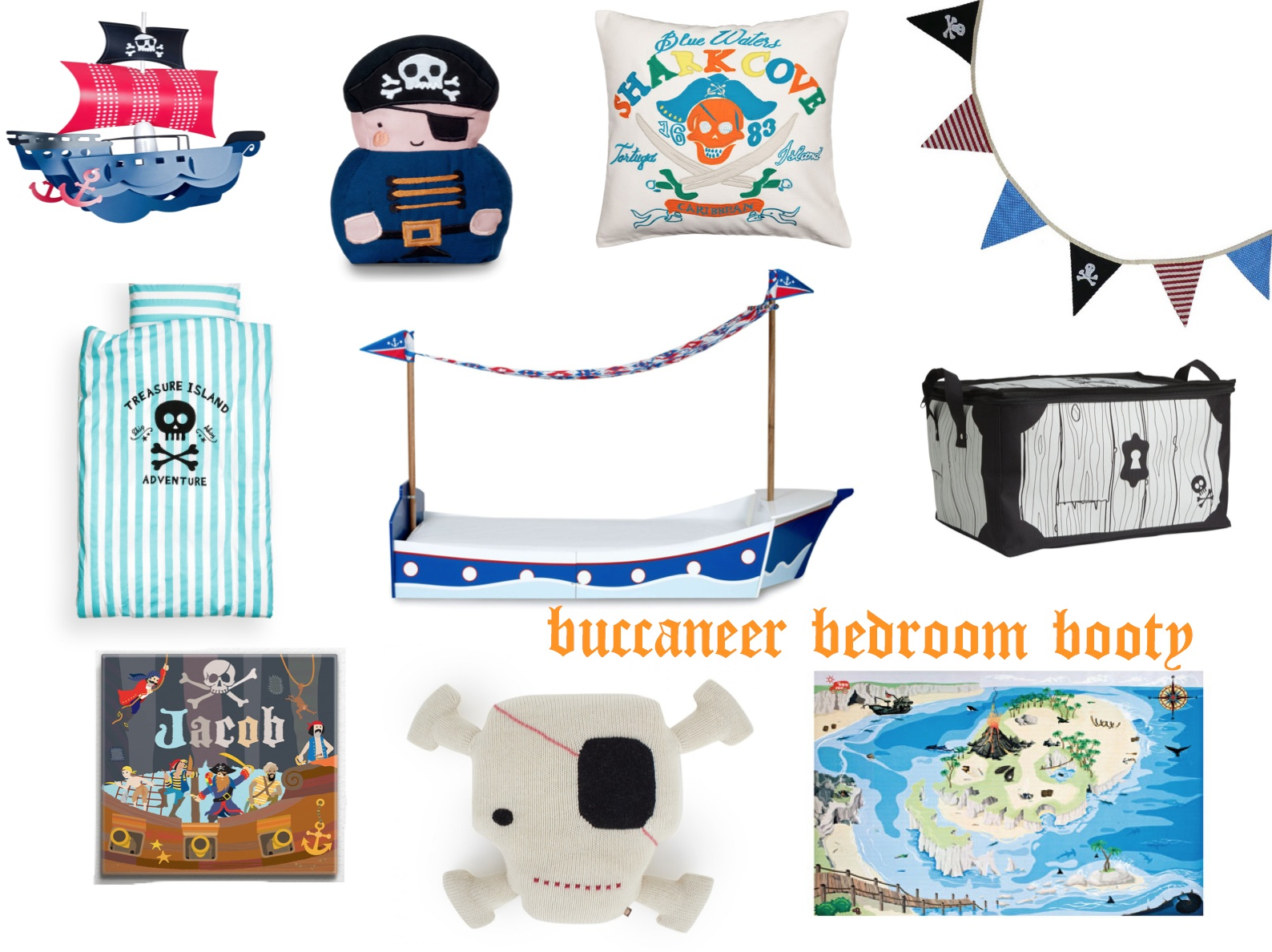 mamasVIB | V. I. BUYS: YO HO HO! A cool Pirate style bedroom buys for little lads or lassies…, bedroom trends, kids bedding, kids bedroom style, V. I. BUYS, interiors, bed,