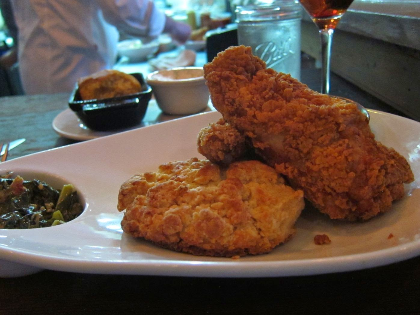 Fried chicken at Hops & Hominy, SF