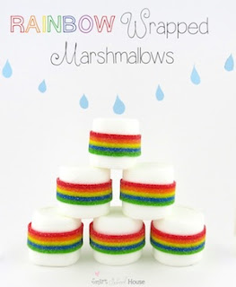 Rainbow Marshmallows #rainbow www.smartschoolhouse.com
