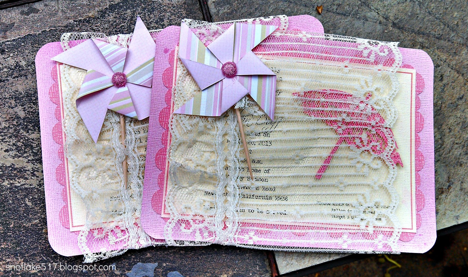 One Day at a Time...: Girly Baby Shower Invites